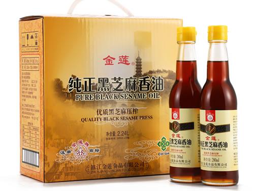 """镇江""""金莲""""纯正芝麻香油获出口食品备案许可"""